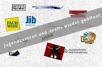 Logos der Jugendzentren in Münster